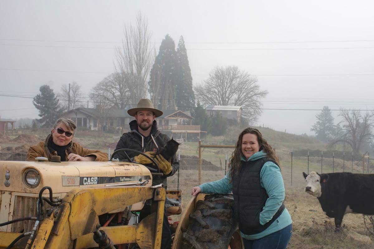 Joan, Daniel and Lara at Lane Creek Hemp Co